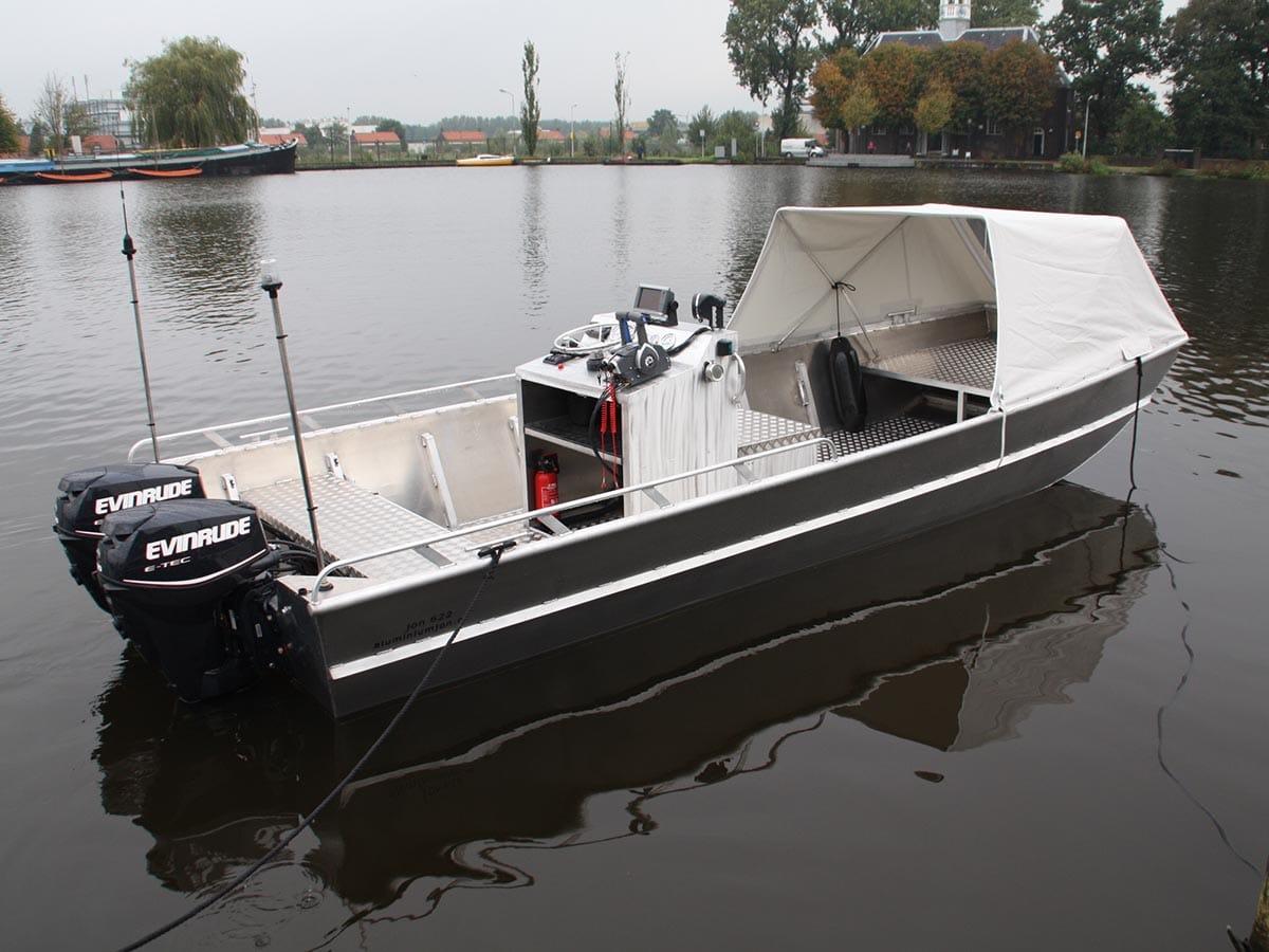 AluminiumJon.nl - Jon 622 - Aluminium (werk)boot van 6 meter